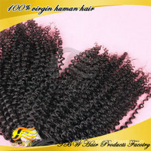 Direct factory shedding free Wholesale human remy hair afro kinky curly clip in hair extensions