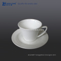 0.2L Heart Shape Ceramic Coffee Cup With Holder, Wholesale Coffee Cup And Saucer