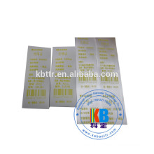 Plain sticky name label print wash resin thermal ribbon