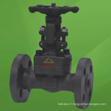 Valve à grille à embase intégrée en acier forgé (GAZ41H)