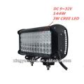 """12 """"barra clara do diodo emissor de luz Barra clara Offroad da lâmpada do trabalho de 48 x 3W 144w 9-32V"""