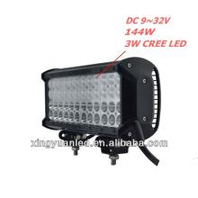 """Barra de luces de 12 """"Barra de luces LED 48 x 3W 144w 9-32V Lámpara de trabajo campo a través"""