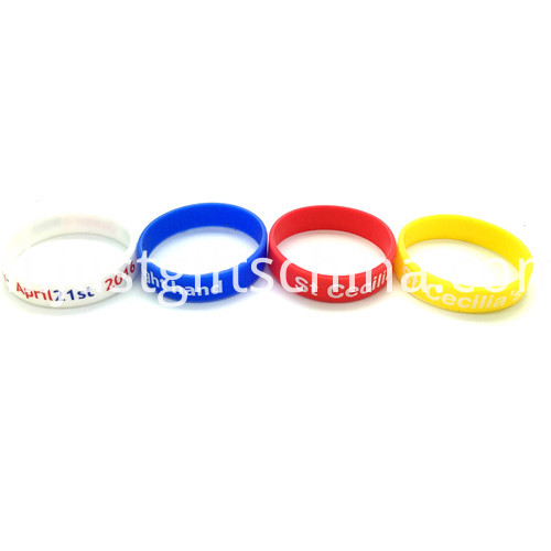Promotional 12 Inch Printed Silicone Wristbands4