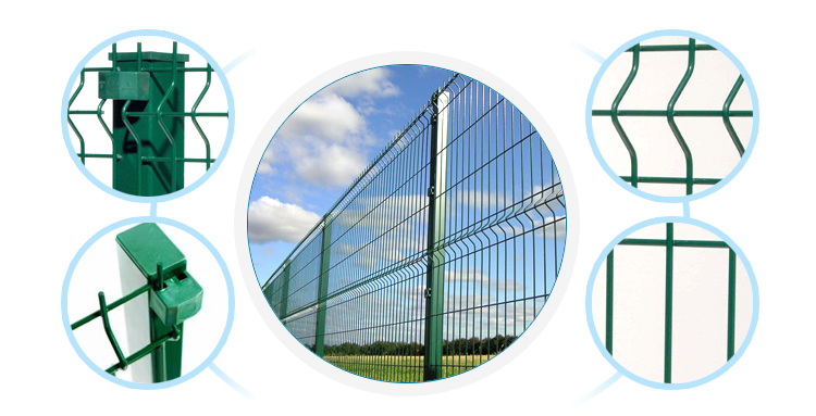 Curved Metal Garden Fencing Panels