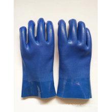 Anti-chemische PVC-Arbeitshandschuhe mit sandigem Finish