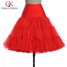 14 colores disponibles Grace Karin mujeres A-line corto vestido vintage Crinolina Rockabilly Enagua Enagua 2016 CL008922-3