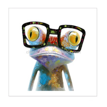 Stretched Frog Painting Canvas Frog Art Wall Decor Canvas Print with High Quality