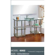 2013 Glass bathroom vanity/glass cabinet outdoor glass furniture