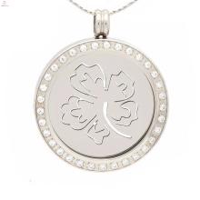 Sorte medalha de trevo de quatro folhas trevo, design de pingentes de moeda