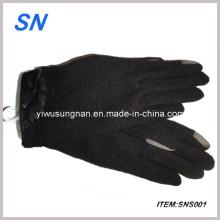 2013 Fashional pantalla táctil Fur Wrist Cuffs Guantes