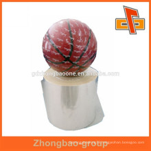 plastic thermo shrink film with simple printing for basketball