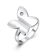 Anillos plateados plata de las mujeres de la plata de la venta del diseño de la manera del anillo del Zircon