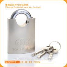 2015 Europe Market Good Quality Shackle Protected Vane Key Padlock