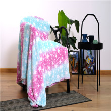 Cobertores de lã femininos com estampa de arco-íris colorido chique