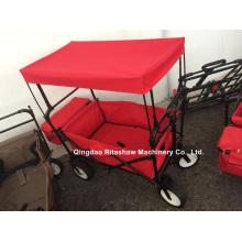 Красный цвет удобная повозка с палаткой