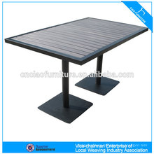 Outdoor furniture 100% plastic wood table bar table