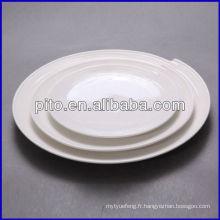 Ensemble de dîner de restauration P & T, assiette de restaurant, assiettes rondes