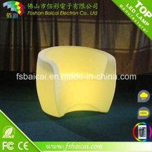 Single Seat LED Meubles décoratifs, siège simple en plastique LED Banquet Chair, éclairage LED siège LED pour banquet