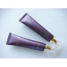 Tubo de plástico para cosméticos embalagem com tampa de acrílico