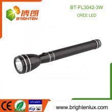 Fábrica feita sob encomenda habitação alumínio Handheld 3SC Ni-mh célula preto 180 lúmen Q3 / Q5 Cree recarregável mais poderosa levou luz