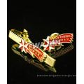Brass custom doft enamel with epoxy lapel pin badge