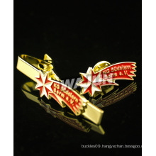 gold plated 3d airplane logo tie clip