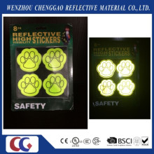 PVC Popular Dog Paws Safety Reflective Sticker
