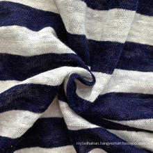 Linen Knitted Stripe Fabric (QF14-1547)
