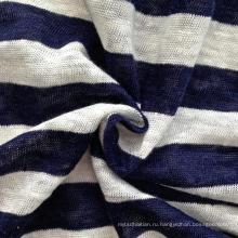 Льняная трикотажная полосатая ткань (QF14-1547)
