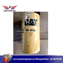 Filtro de aceite 1R0739 para las piezas del motor del excavador del gato