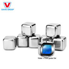 Certified Top Supplier Wholesale Custom Metal Whisky Chilling Ice Cube