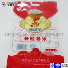 Tamaño personalizado de arroz Bolsa de plástico de embalaje de grado alimentario