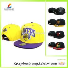 LSCP-19 Diseñe sus propios sombreros de béisbol de la cadera de la tapa de la cadera de los deportes del broche de presión del bordado de moda y los casquillos del snapback
