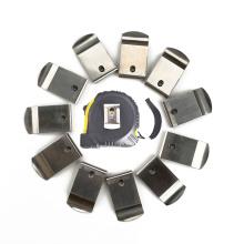 Custom stainless steel metal flat spring belt clip for measuring tape
