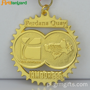 Customized Sport Antique Brass Metal Medal