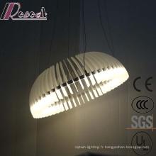 Éclairage pendentif en métal rond blanc de Decrotive LED de style européen