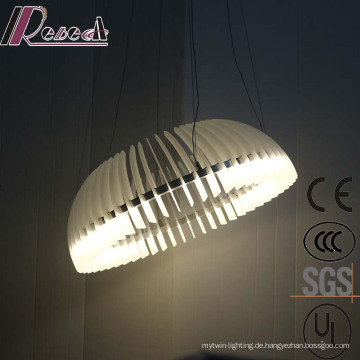Europäische Art Decrotive weiße runde Metall LED Pendelleuchte