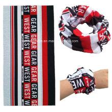 Impressão promocional de logotipo de design personalizado por sublimação lenço multifuncional sem costura