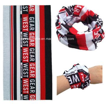 Écharpe sans couture multifonctionnelle d'impression par sublimation de logo de conception personnalisée promotionnelle