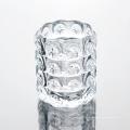 Pot en verre à motif transparent