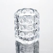 Transparentes Muster Glas Kerze Glas
