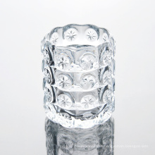 Transparent Pattern Glass Candle Jar