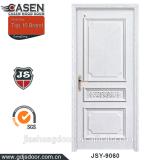 Oak veneer laminated wooden single carving door design