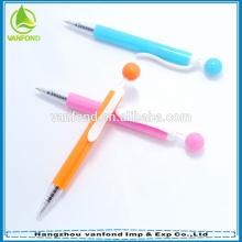 Fábrica venda direta novidade pequena caneta de plástico