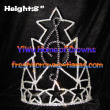 Music Note Crystal Rhinestone Pageant Crowns