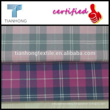 2015 new design 100 cotton yarn dyed twill weave check plaid flannel fabric for women's shirt