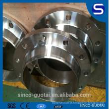 Flange de pescoço de aço inoxidável ANSI B16.5 soldada