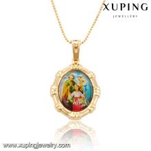 32543 Xuping moda charme jóias banhado a ouro imagem religiosa pingente como presentes