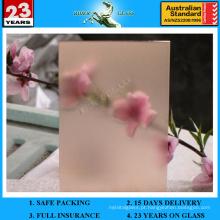 Vidro gravado com ácido rosa e 412 mm com AS / NZS2208: 1996