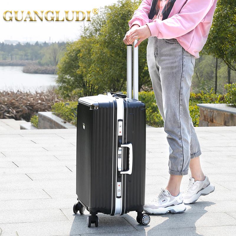 aluminum carry on luggage suitcase